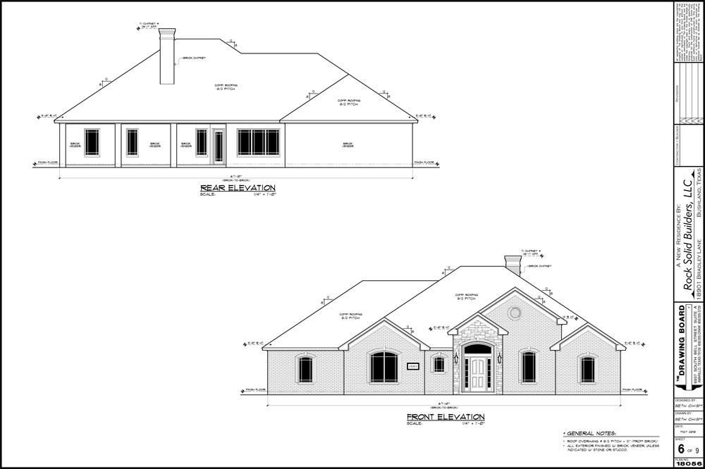 rock solid builders floor plan options - bradley